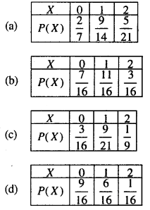 Maths MCQs for Class 12 with Answers Chapter 13 Probability Q32