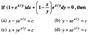 Maths MCQs for Class 12 with Answers Chapter 9 Differential Equations Q48