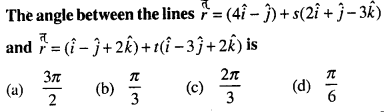 Maths MCQs for Class 12 with Answers Chapter 11 Three Dimensional Geometry Q26