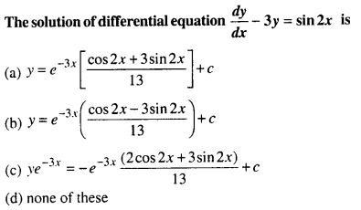 Maths MCQs for Class 12 with Answers Chapter 9 Differential Equations Q63