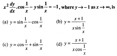 Maths MCQs for Class 12 with Answers Chapter 9 Differential Equations Q65