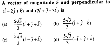 Maths MCQs for Class 12 with Answers Chapter 10 Vector Algebra Q44