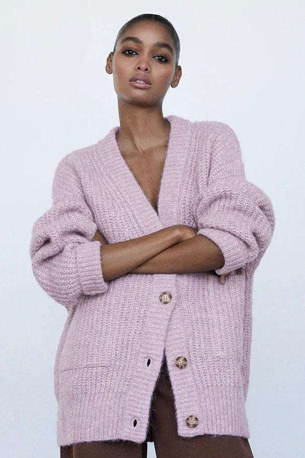 zara-patch-pocket-knit-jacket-cardigan-chunky-lavender