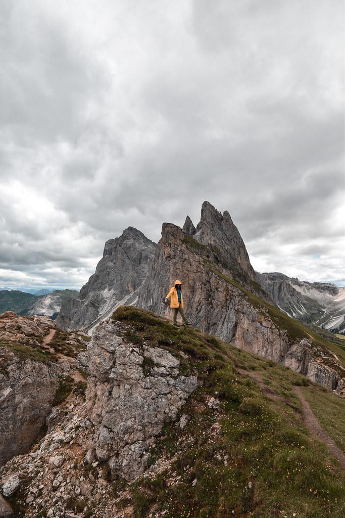 Seceda, Trekking in Val Gardena