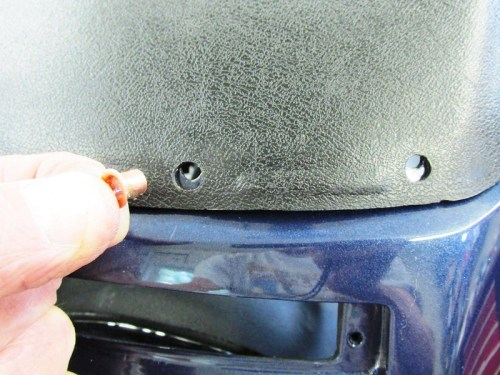 Rivets Fit In Two Center Holes Of Dash