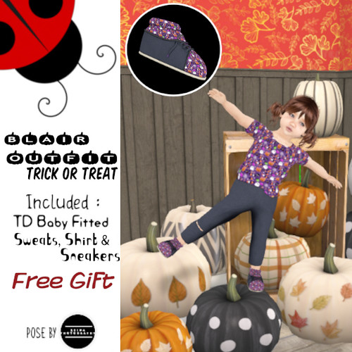 Blair Outfit Trick or Treat Free gift @ Belle Bebe- Oct 2020