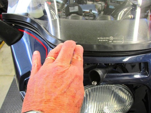 Attaching Windscreen Gasket With Super Glue Where Rubber Pins Broke