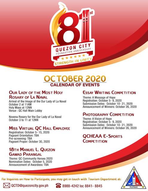 Quezon City Calendar of Events 1011