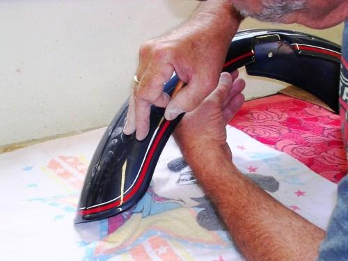 Adding White Stripe To Front Fender