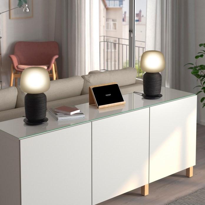 IKEA X SONOS SYMFONISK Table Lamp with WiFi Speaker Black  座檯燈連Wi-Fi喇叭 黑色 (4)