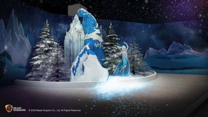 Frozen 參加者可於嚴寒冰山協助愛莎施展結冰魔法,只需經過冰山即可近距離欣賞結冰動畫。