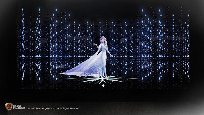 Frozen (全新)魔法森林女王愛莎 - 於區內的場景燈光將不斷變化下,讓大家看到經過四大魔法考驗,以全新造型登場的愛莎。
