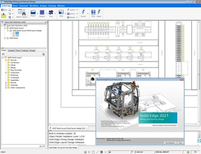 Working with Siemens Solid Edge Electrical Design 2021 full
