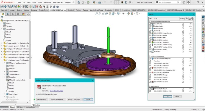 Working with SolidWorks 2021 SP0.0 full license