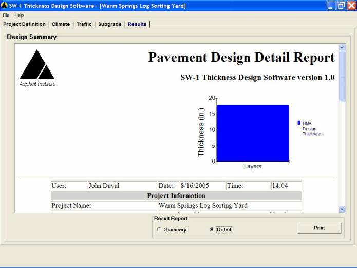 Working with Asphalt Pavement Thickness Design Software SW1 v1.0.5 full