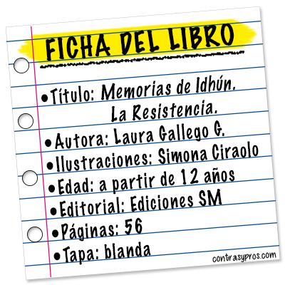Ficha libro Memorias de Idhún. La resistencia.