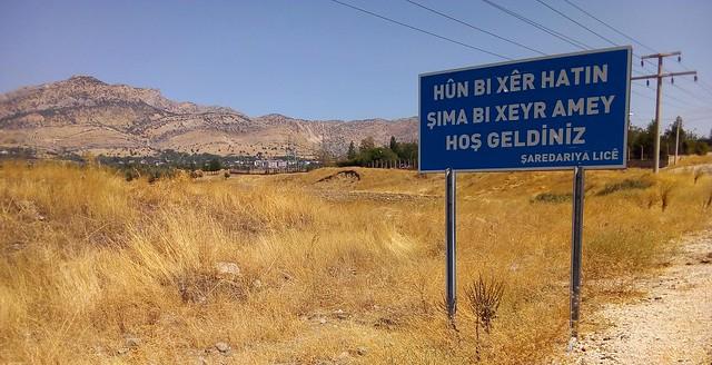 """Welcome"" in Kurdish, Zaza, and Turkish by bryandkeith on flickr"
