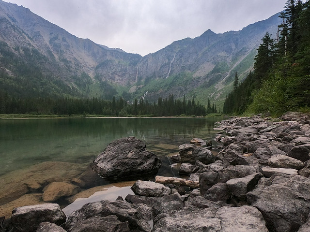 Avalanche Lake where the bear was