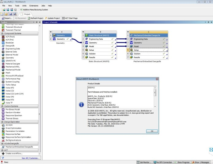 Working with ANSYS 2020 R2 nCode DesignLife full license