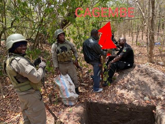 Patrulha combativa nas matas de Quissanga - Cagembe