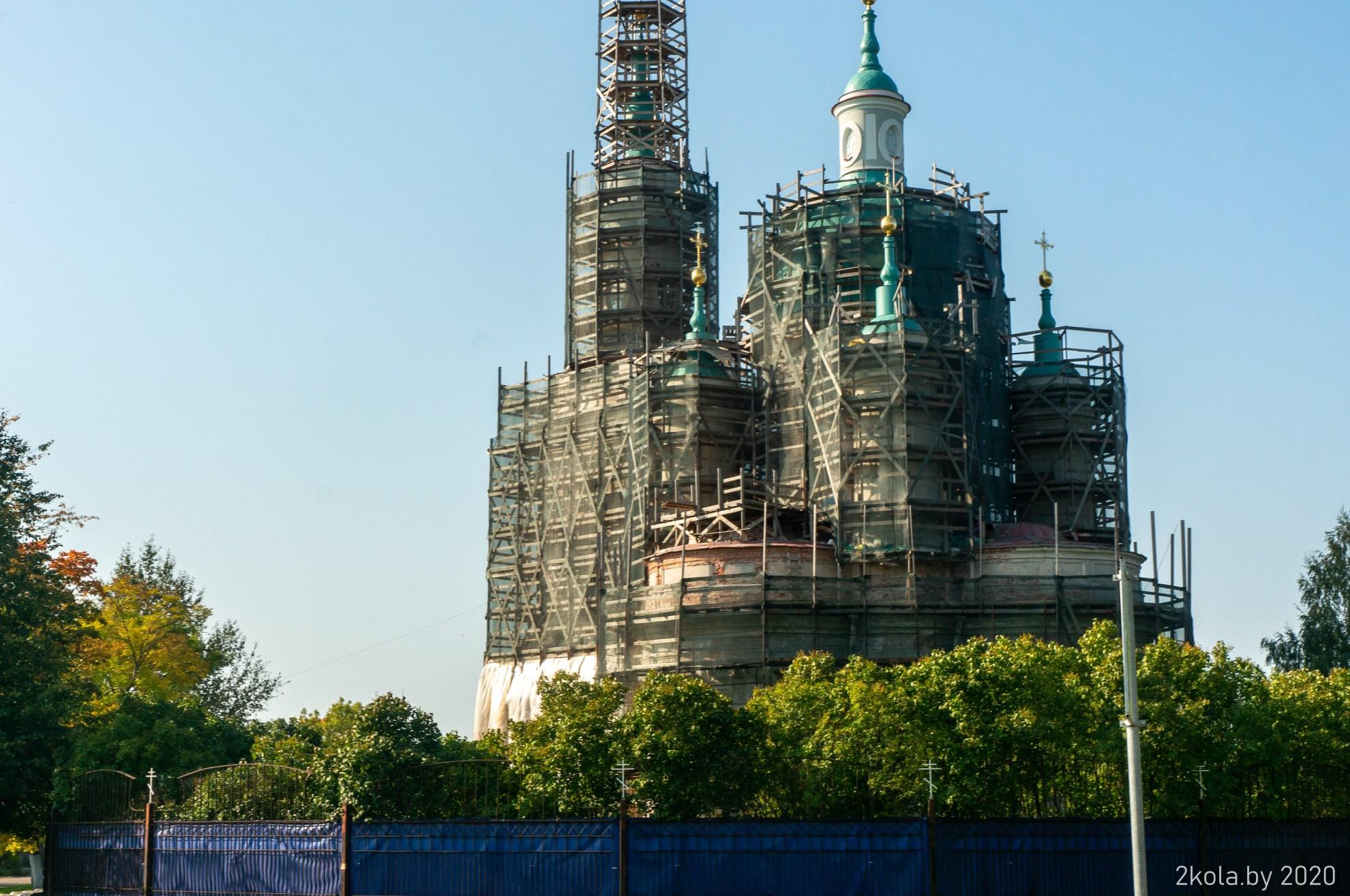Собор Екатерины на реконструкции. г. Кингисепп