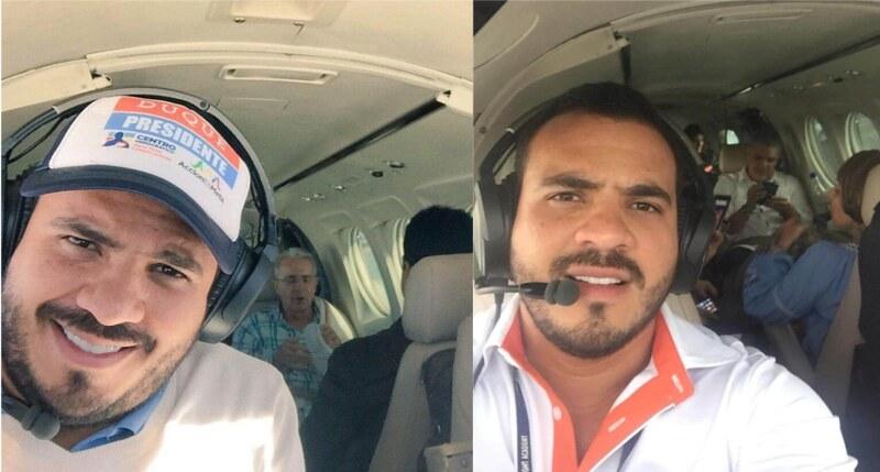 Samuel Niño Cataño fue el piloto oficial de la campaña a la Presidencia de Iván Duque y también trasportó al senador del Centro Democrático Álvaro Uribe Vélez, a quien le aportó 20 millones de pesos para su reelección en el Congreso en 2018.