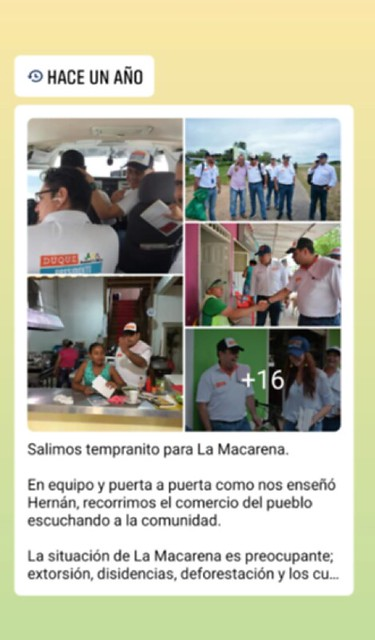 Mensaje político del piloto del Cartel de Sinaloa a sus contactos en la red social Facebook.