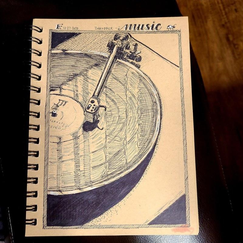 Inktober, Day 27 - Music