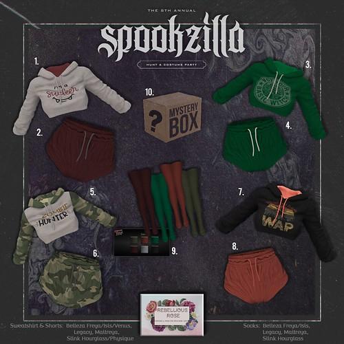 ~Rebellious Rose~ Spookzilla 2020 Hunt Key