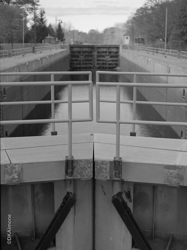 Lock 5, Hudson River at Schuylerville. Pentax 645n with Arax/Volma 80mm lens medium format film.