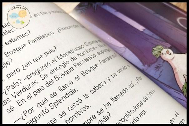 Reseña del libro La increíble aventura de Splendida y el misterio de las verduras asquerosas