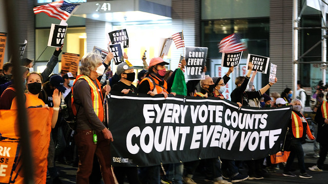 Count every vote march, NYC