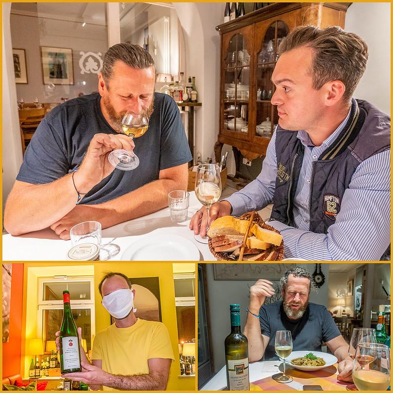Drei ältere Weine aus Sachsen