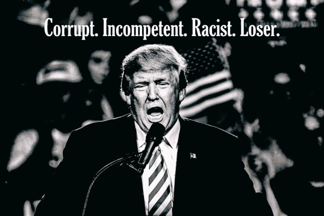 Picture of Trump with the words
