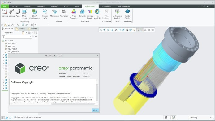 Working with PTC Creo 7.0.2.0 full license