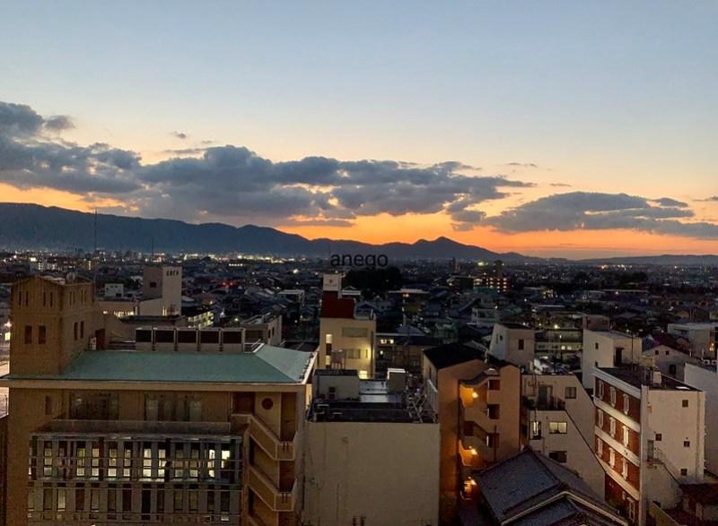 カンデオホテルズ 奈良橿原 夕方
