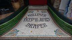 Mosaic shop entrance, Llanfairfechan