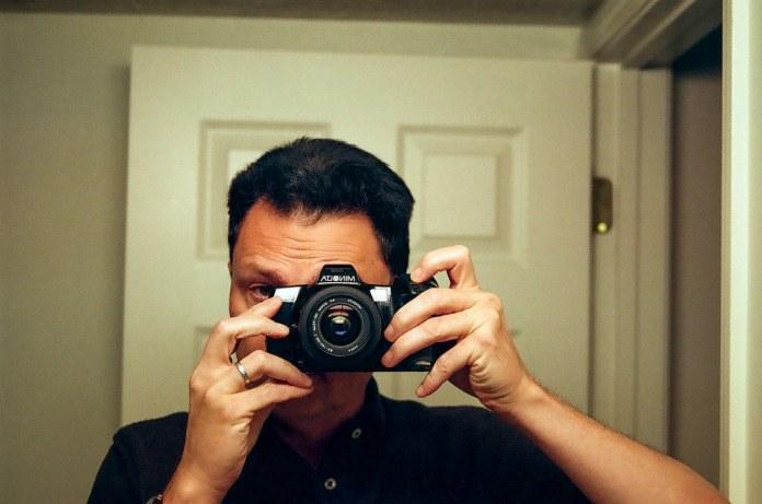 Bathroom mirror selfie