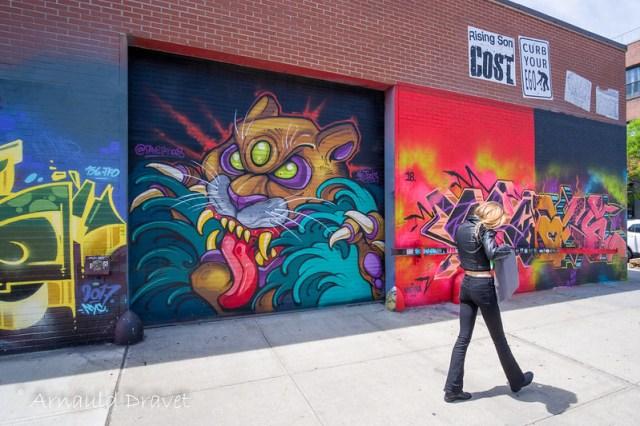 Painting in Brooklyn / Streetart - Kings County, New York, États-Unis - 11/05/2018 12h50