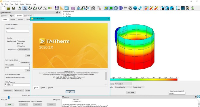 Working with ThermoAnalytics TAITherm 2020.2.0 full license