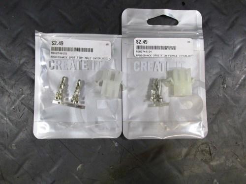 Radio Shack Two Pin Socket Kits-Male and Female