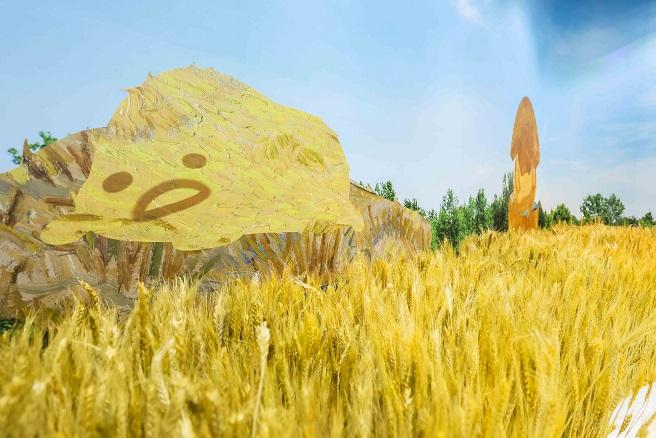Sanrio 於梵高稻田裡跟gudetama午睡片刻來一個金黃色甜夢