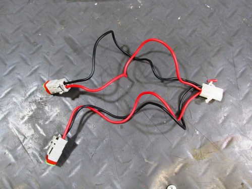 Modified LED Light Harnesses with Male Socket (White)