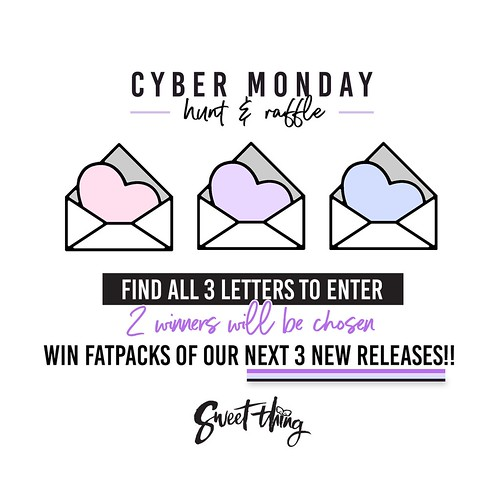 RAFFLE + HUNT Cyber Monday @ Sweet Thing!