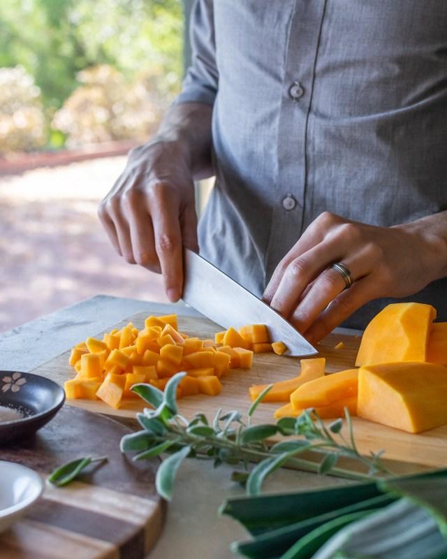 vibrant gold butternut squash