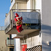 Santa Claus on the Balcony