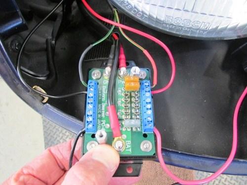 USB Socket Wires & 5 Amp Fuse Installed On Eastern Beaver PC-8 Fuse Block