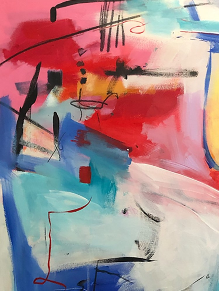 Postcard - Morning in Alphabet City manhattan nyc original fine abstract art emerging artist sarah gilbert fox copyright
