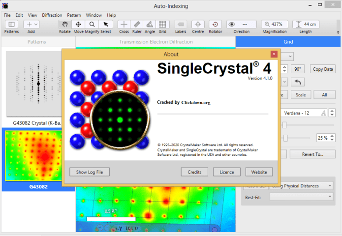 Working with SingleCrystal 4.1 full license