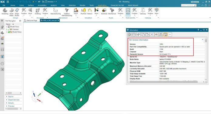 Working with Siemens NX 1953 Build 1700 (NX 1953 Series) full license